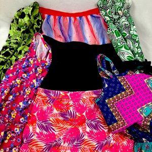 Lot of girl's size 14-16 dress/skirt (7 ct)